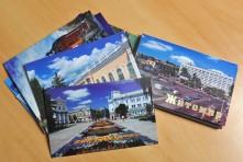 """Набір з обкладинкою із 18-ти поштових листівок """"Житомир"""" (2009 рік) від Віктора Галаніна"""